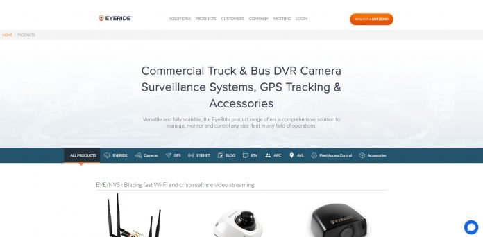 EyeRide Dashcam for Fleets